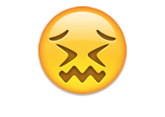 Confounded face - emoji meanings