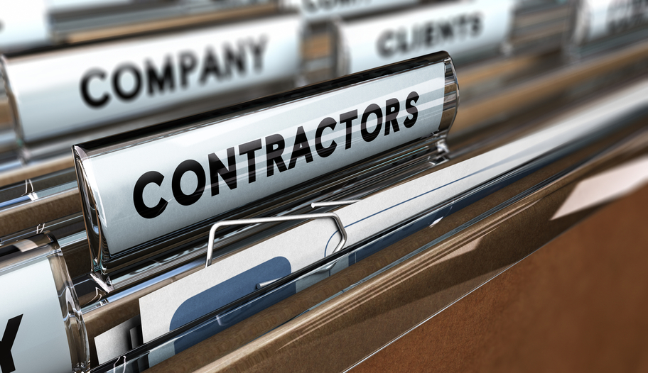 Close up of Contractors Database