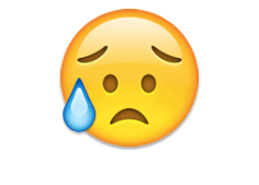 Disappointed but relieved face - emoji meanings
