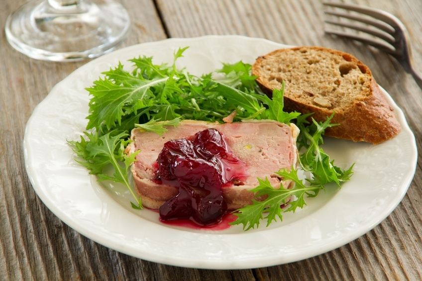 Duck terrine with cranberries