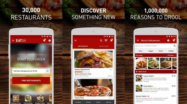 Eat24 food delivery app
