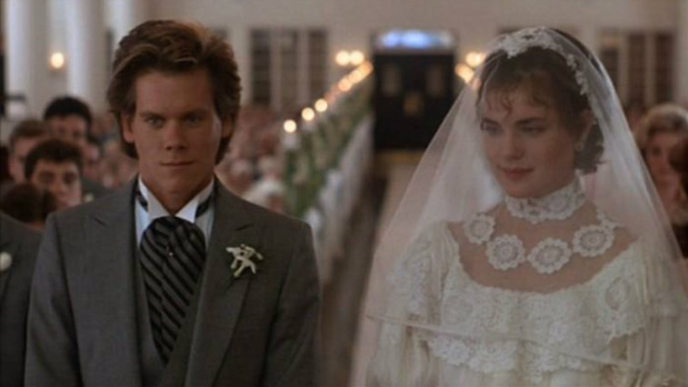 Elizabeth McGovern and Kevin Bacon in She's Having a Baby