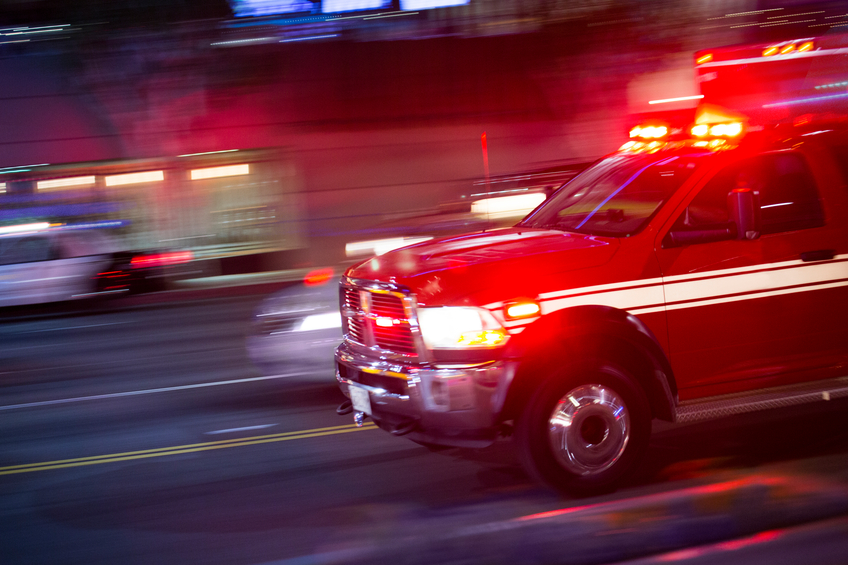 Emergency Responder in speed on road