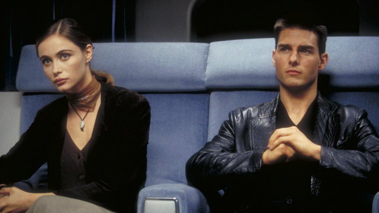 Emmanuelle Beart and Tom Cruise in Mission Impossible