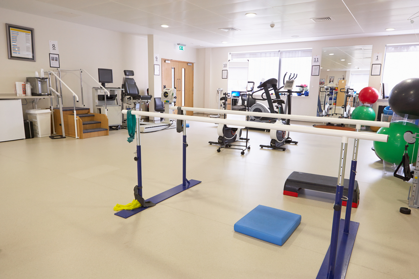 Physiotherapy equipment in a hospital