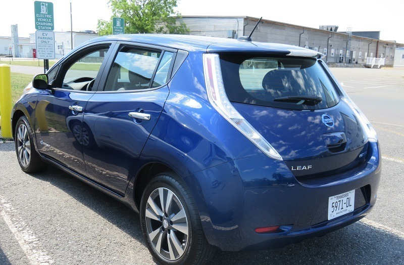 Nissan Leaf fast charge driver side