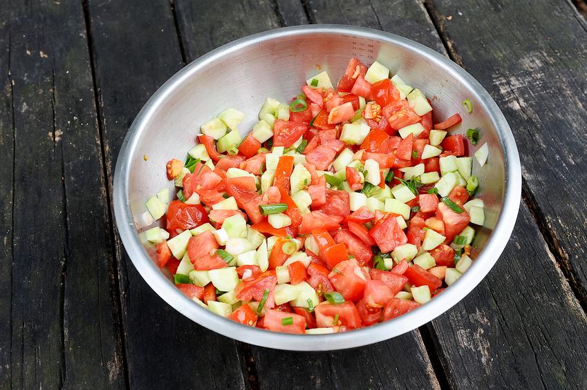 afghan salad in a bowl