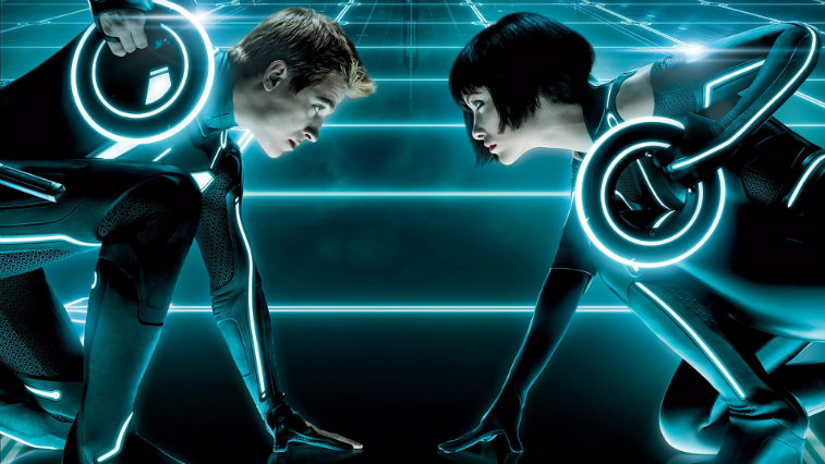 Garrett Hedlund and Olivia Wilde in Tron Legacy