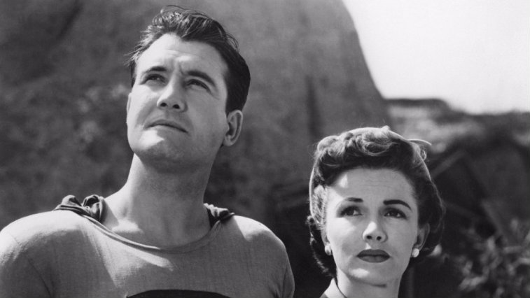 George Reeves and Phyllis Coates in Adventures of Superman