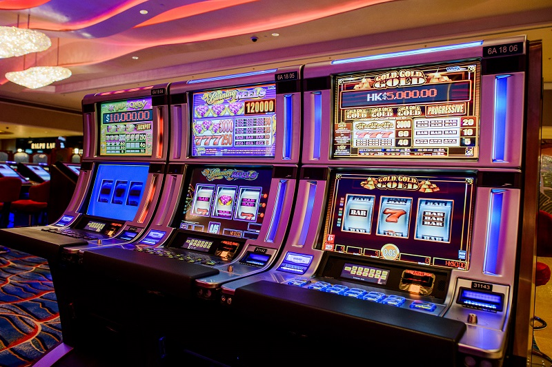 Slot machines in a Las Vegas casino