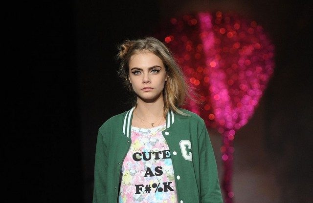 LONDON, UNITED KINGDOM - FEBRUARY 16: Cara Delevingne walks the Runway at the Sister by Sibling presentation during London Fashion Week Fall/Winter 2013/14 at ICA on February 16, 2013 in London, England. (Photo by Stuart Wilson/Getty Images)