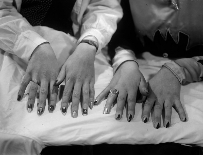 Fingernails on display at a Hairdressing Exhibition held at Olympia, London the 1930s   Fox Photos/Getty Images