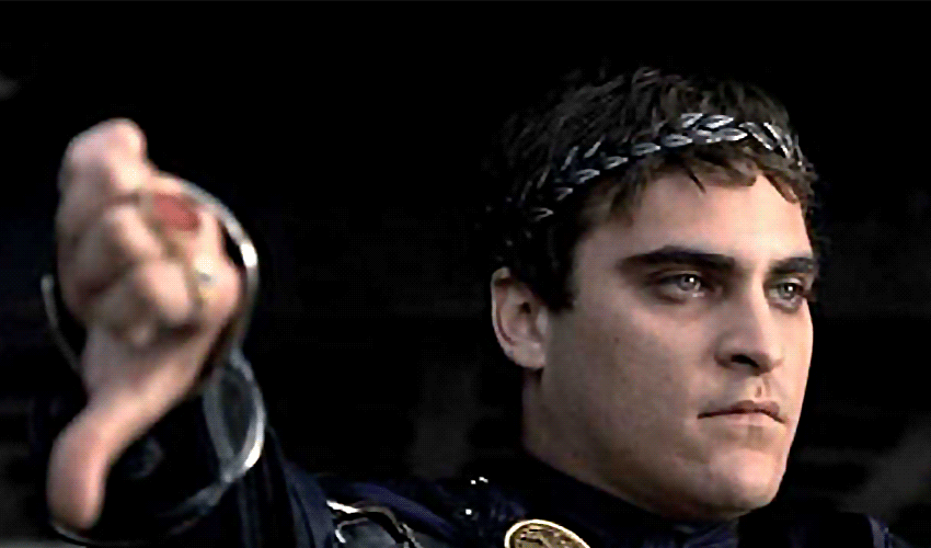 Joaquin Phoenix as a ruthless leader in 'Gladiator'