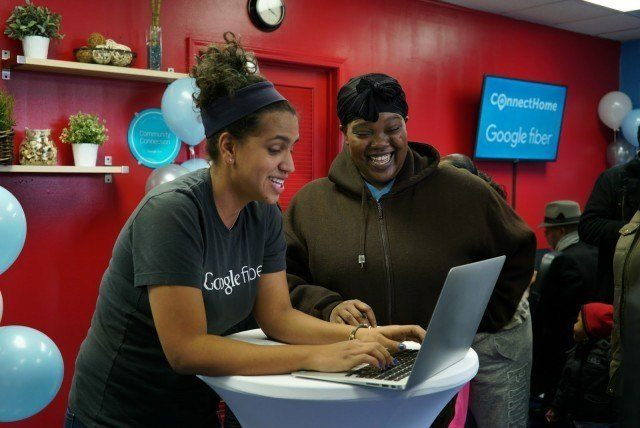 Google Fiber customer signing up