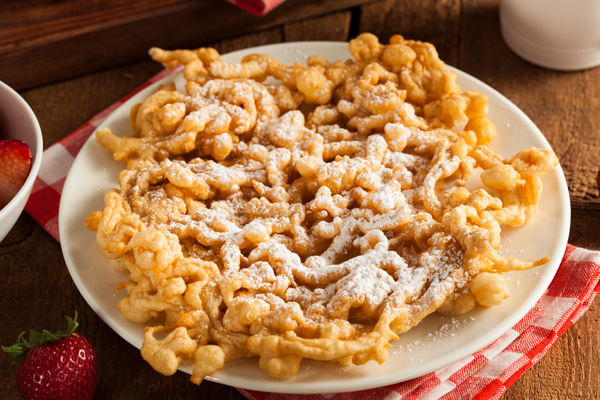 Funnel Cake on white plate