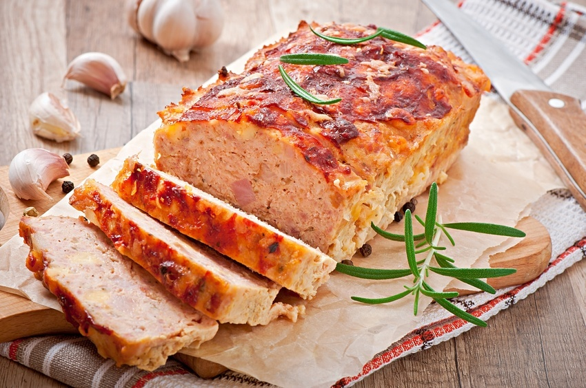 meatloaf with ketchup and rosemary