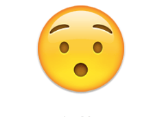 Hushed face - emoji meanings