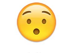 Hushed face - emoji meanings