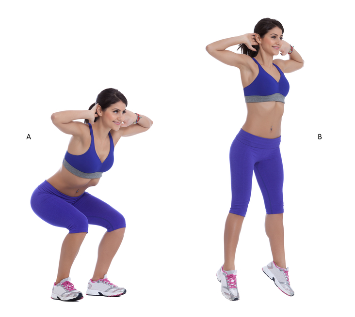 woman doing Jump squats