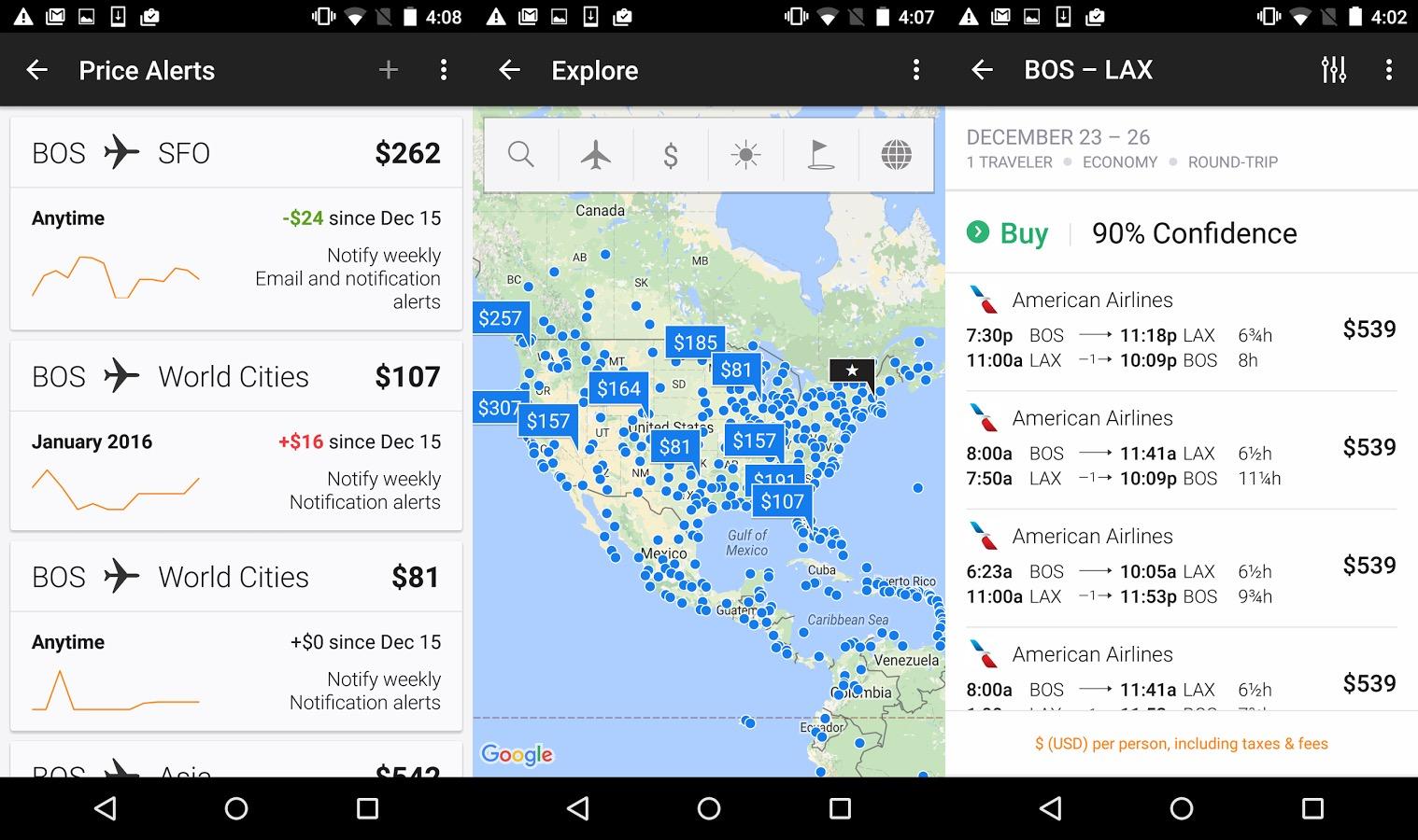 KAYAK cheap flights app