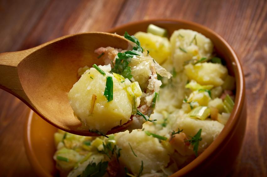 Kartoffelsalat in a bowl