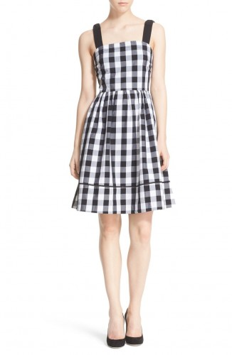 Kate Spade gingham fit and flare dress