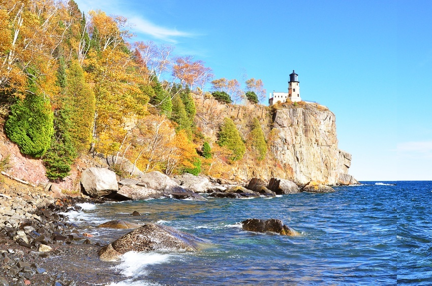 Light House at Split Rock