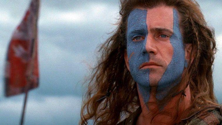 Mel Gibson in Braveheart