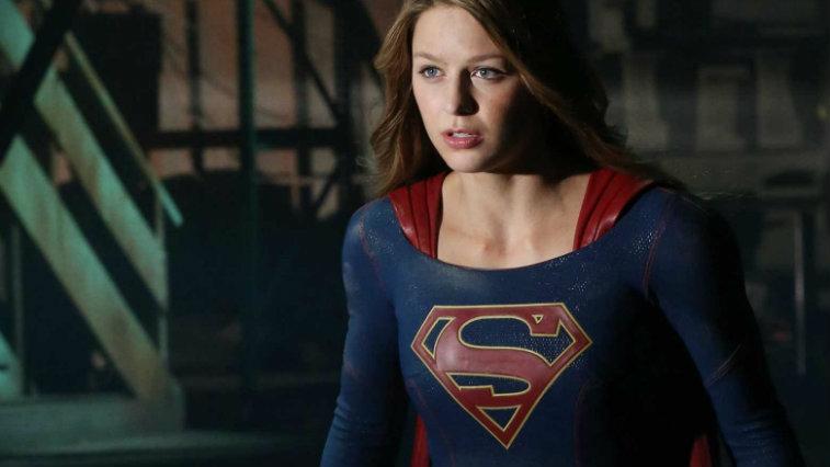 Melissa Benoist's Kara Danvers dons her Supergirl gear in a scene from Supergirl Season 2