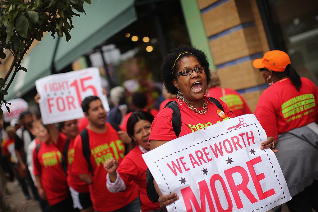 Minimum wage protest, minimum wage by state
