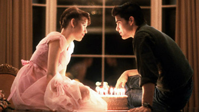 Molly Ringwald and Michael Schoeffling in Sixteen Candles