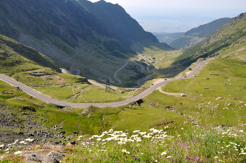 Transfagarasan Highway in Romania