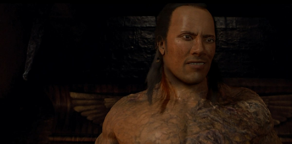 The Scorpion King smirks in The Mummy Returns.