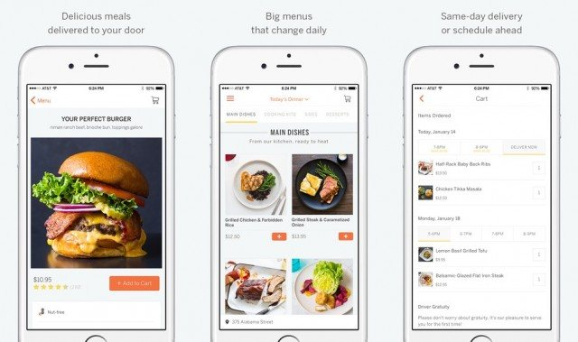 Munchery food delivery app