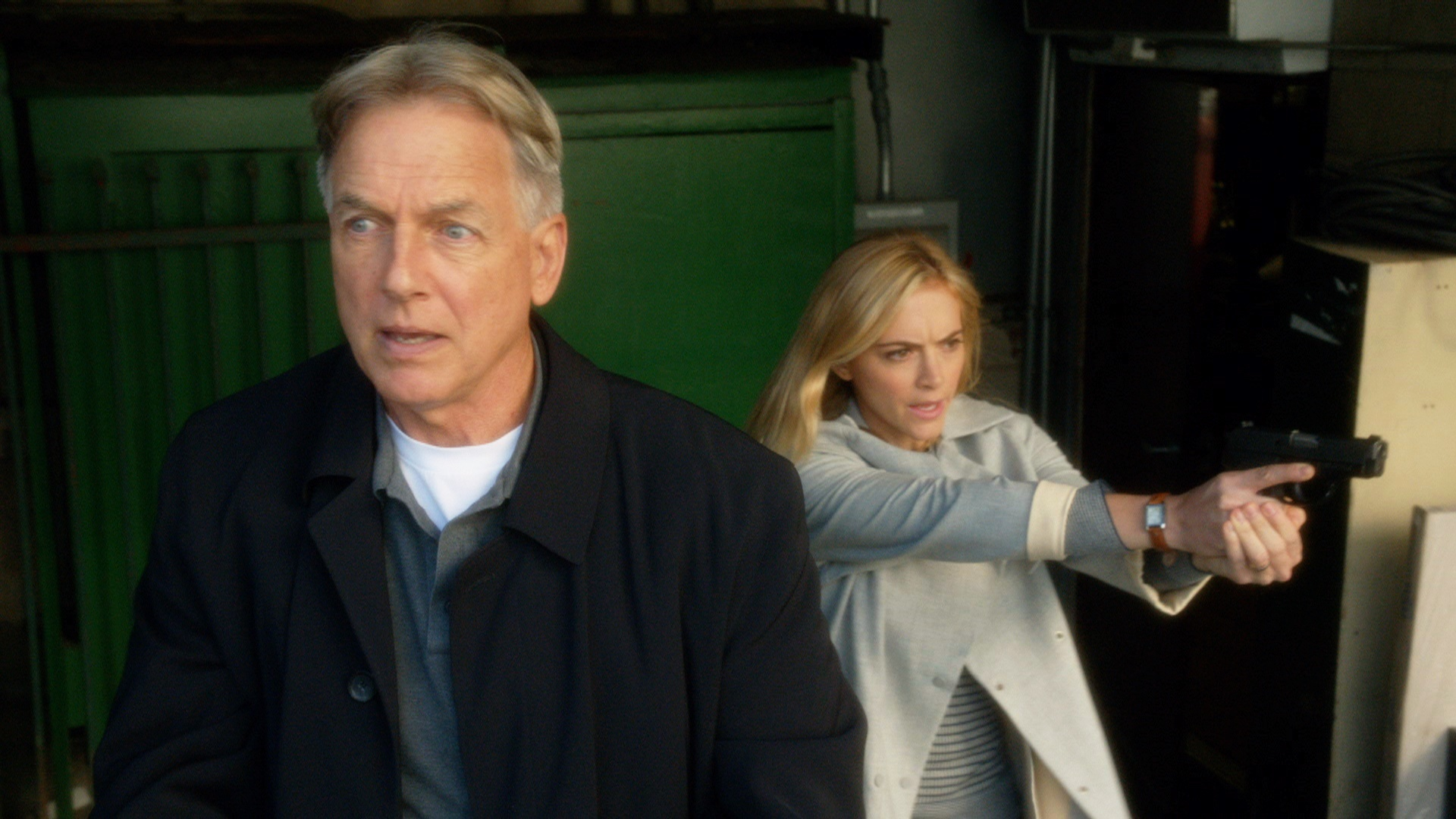 Mark Harmon on the TV show 'NCIS.'