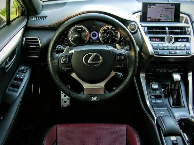 Lexus steering wheel and paddle shifters