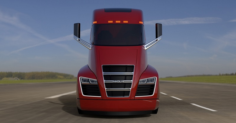 Nikola One red front