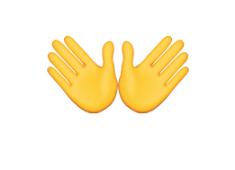 Open Hands - emoji meanings