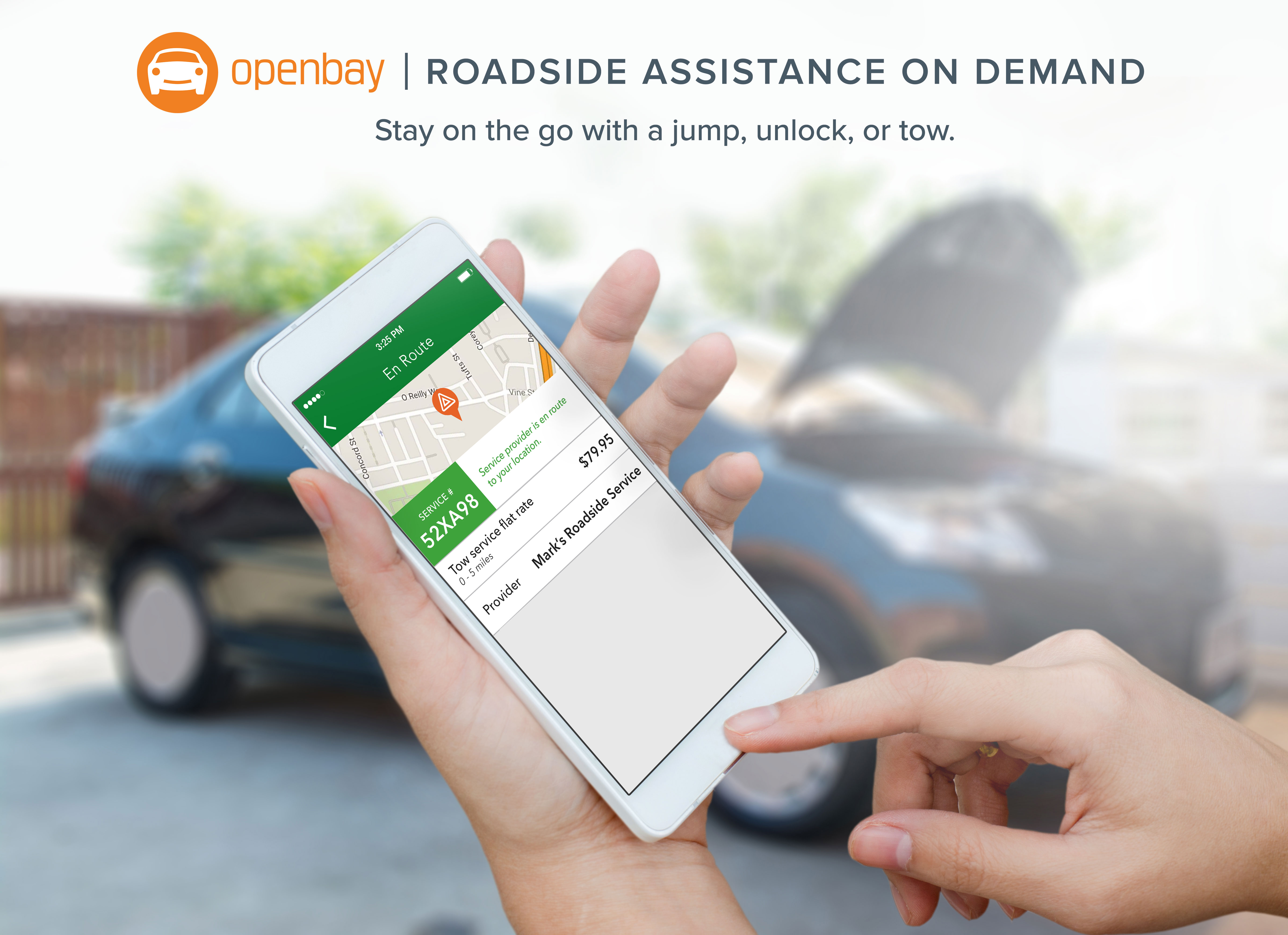 Openbay Roadside Assistance, stay on the go
