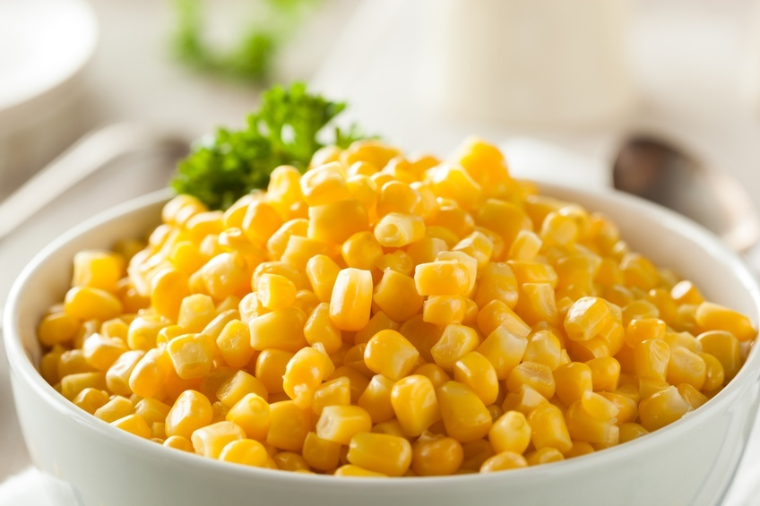 Steamed Corn in a bowl