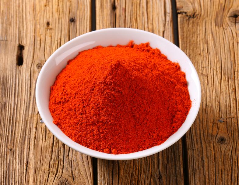 Paprika powder in a bowl