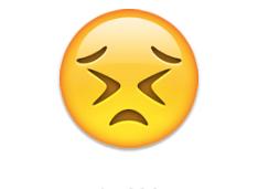 Persevering face - emoji meanings