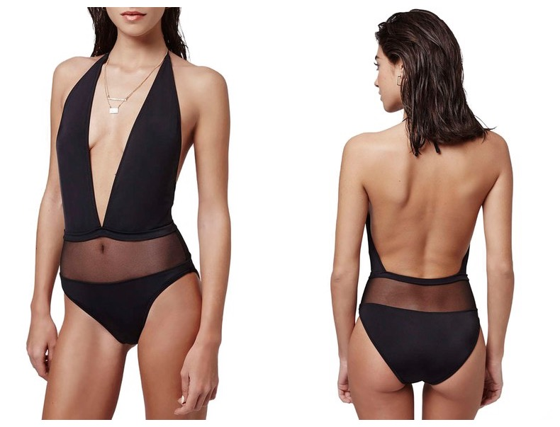 Plunge one-piece - flattering bathing suits under $50