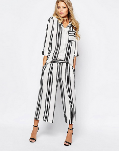 stripes, women's fashion, oversized style