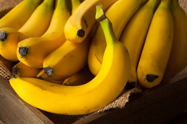 Bunch of Bananas in a basket.
