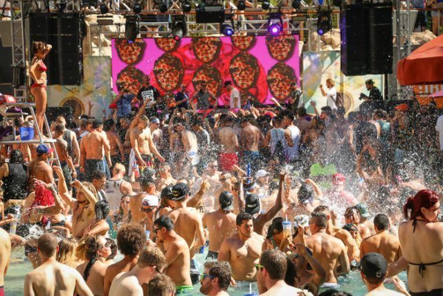 people party at Rehab Beach Club