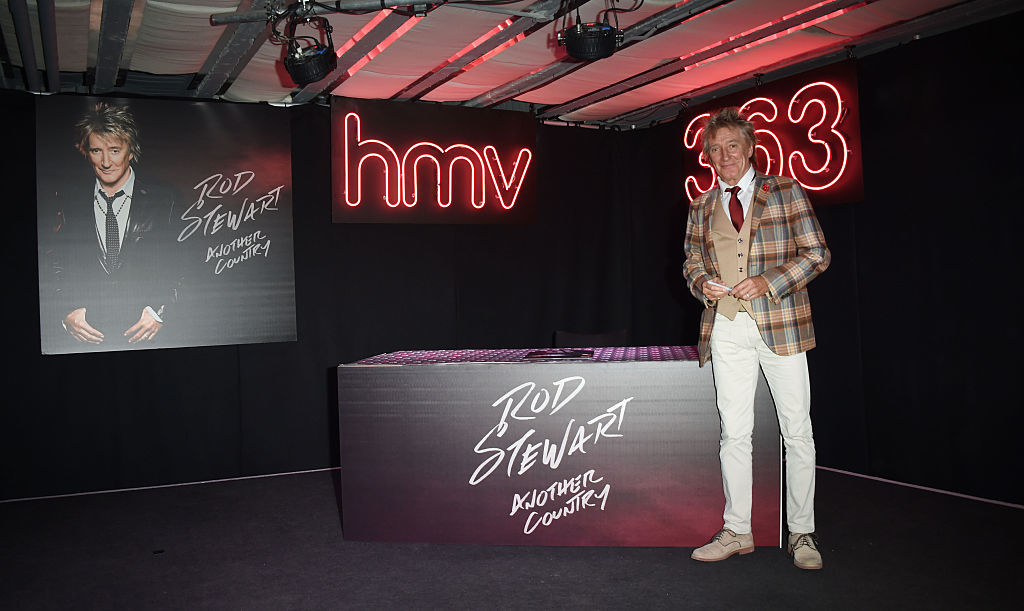 Rod Stewart at HMV, Oxford Street