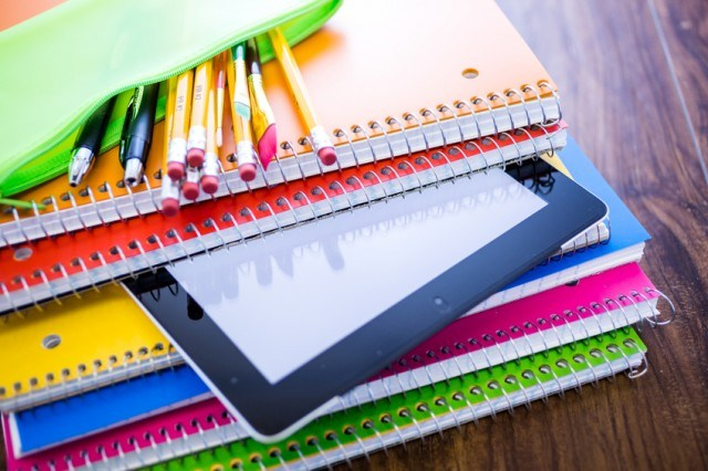 Notebooks in variety of colors