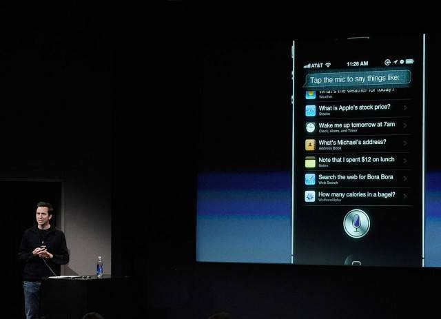 Apple's Senior Vice President of iOS Scott Forstall speaks about the new voice recognition app called Siri