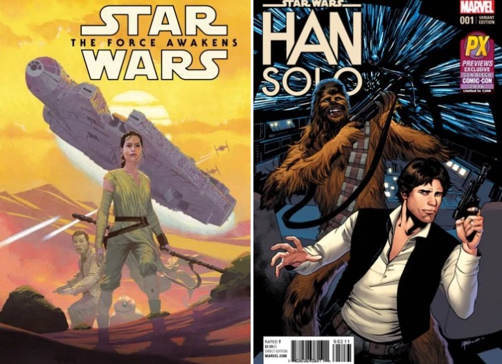 Star Wars comic books from Marvel